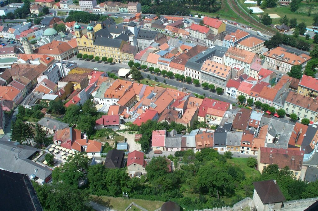 View of Old Town Trenčín from the Castle Wall