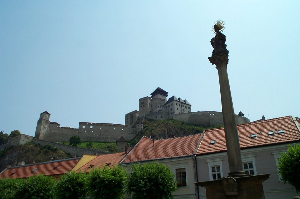 Trenčín Castle from Main Square