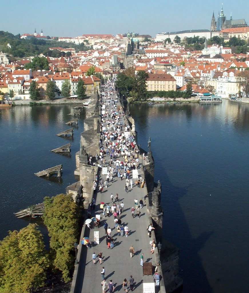 St. Charles Bridge from a Nearby Observation Tower
