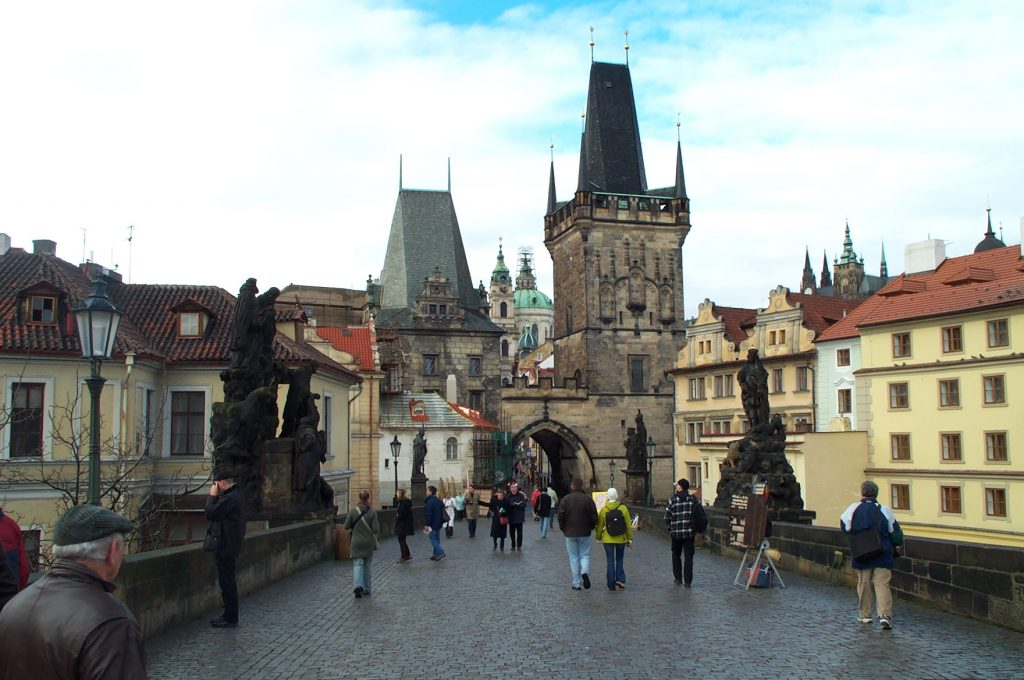 St. Charles Bridge toward the Old Town