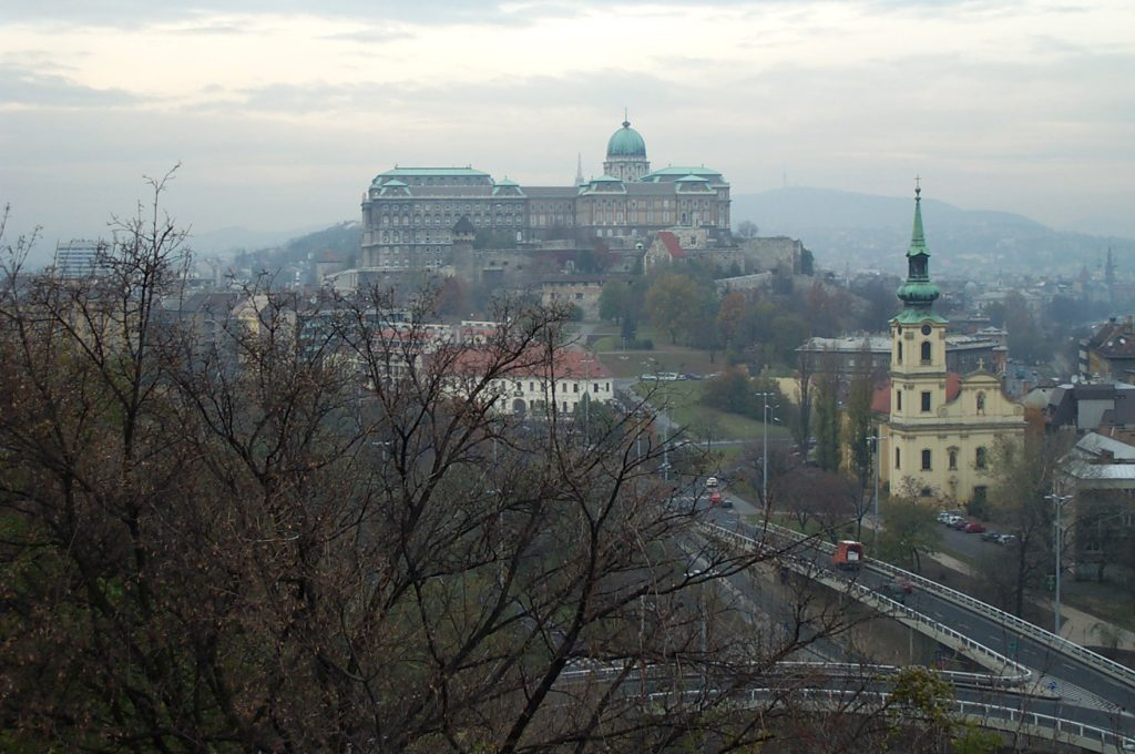 Buda Castle over the West Bank region of the Danube