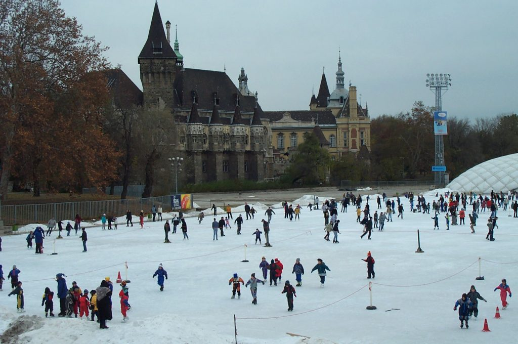 Vajdahunyad Castle and Skating Rink