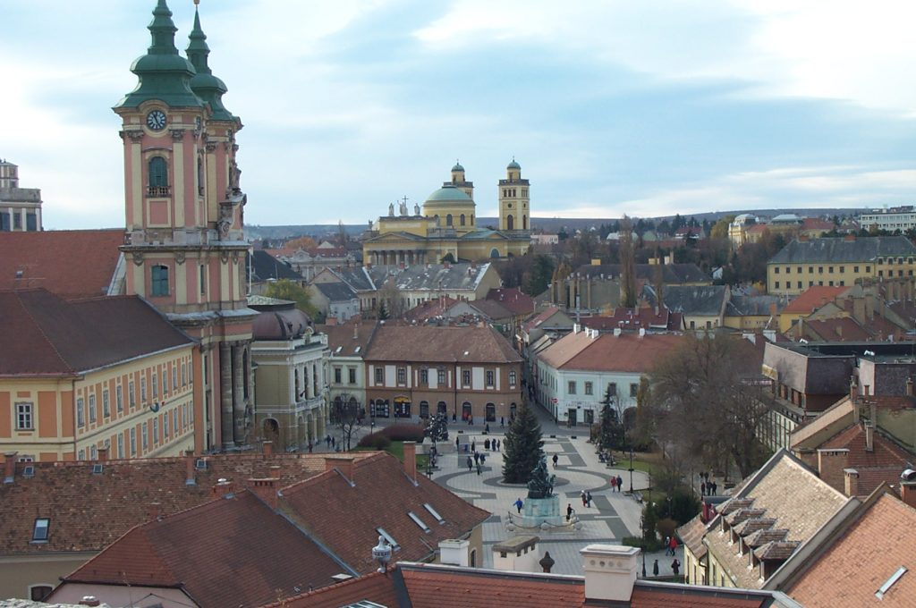 Beautiful View of Eger from the Castle Wall
